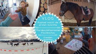 Pferdeschlittenrennen |Raphael macht die ersten Schritte |Familien Sonntag
