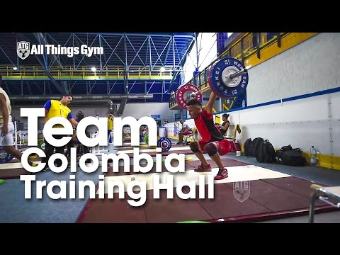Team Colombia 2015 Junior World Championships Training Hall