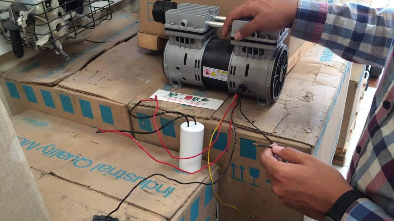 Como conectar un capacitor o condensador a un compresor for Aceite para compresor