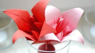Jak zrobić Lilię Origami / How to make an Origami Lily