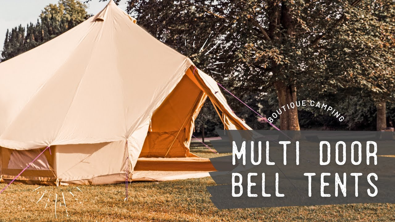 7m Sandstone Multi Door Bell Tents by Boutique C&ing & 7m Sandstone Multi Door Bell Tents by Boutique Camping - YouTube