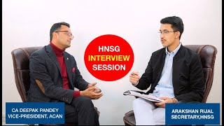 HNSG Interview Session- Episode 5 with CA Deepak Pandey