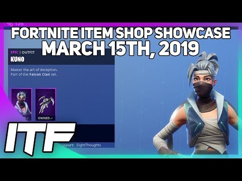 Fortnite Item Shop *NEW* KUNO AND KENJI SKIN SET! [March 15th, 2019] (Fortnite Battle Royale) thumbnail