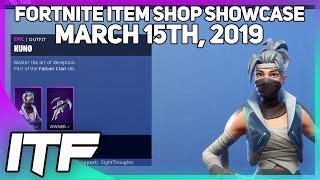 Fortnite Item Shop *NEW* KUNO AND KENJI SKIN SET! [March 15th, 2019] (Fortnite Battle Royale)