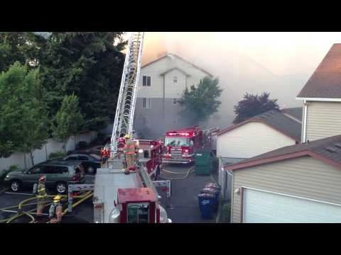 Vancouver WA, -  One Lake Place Apartments Fire - Part 1, July 2, 2013