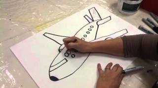 Qatar National Day : how to draw a Qatar Airways plane