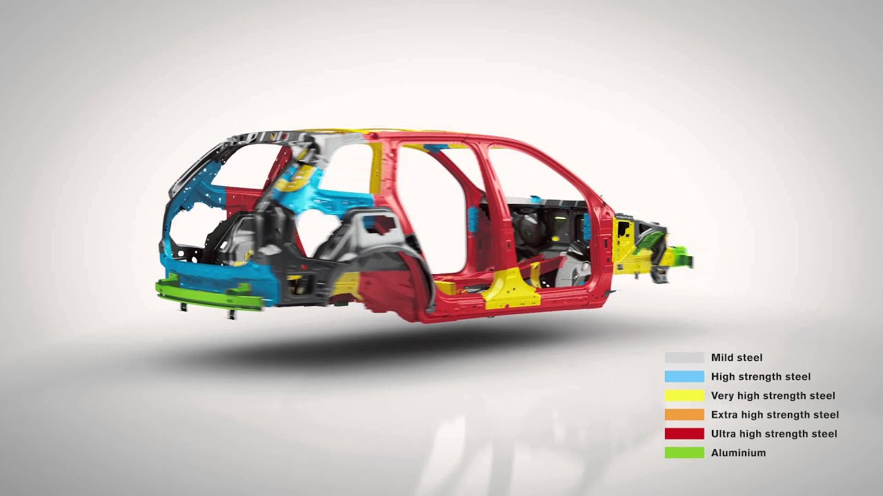 Volvo Xc90 2015 Body Structure With Graphics Youtube