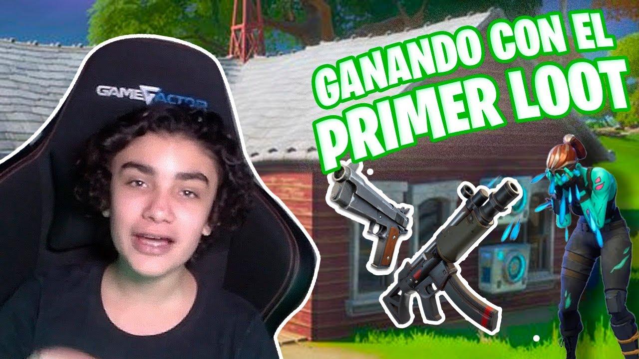 GANANDO SOLO CON MI PRIMER LOOT EN FORTNITE ANDREW PONCH