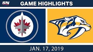 NHL Highlights | Jets vs. Predators - Jan. 17, 2019