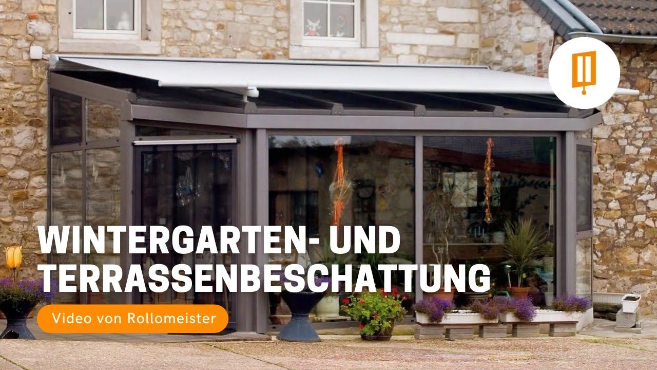 Wintergartenbeschattung Und Terrassenbeschattung Video Von