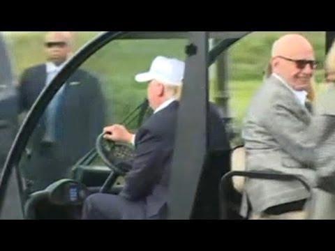 Donald Trump dines with Rupert Murdoch