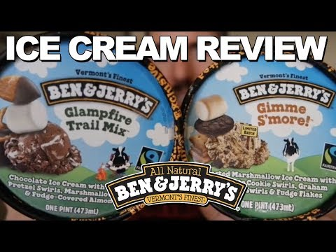 Ice Cream Review: Ben & Jerry's Gimme S'More and Glampfire Trail Mix