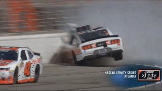 NASCAR Xfinity Series 2018. Atlanta Motor Speedway. Cole Custer Hard Crash