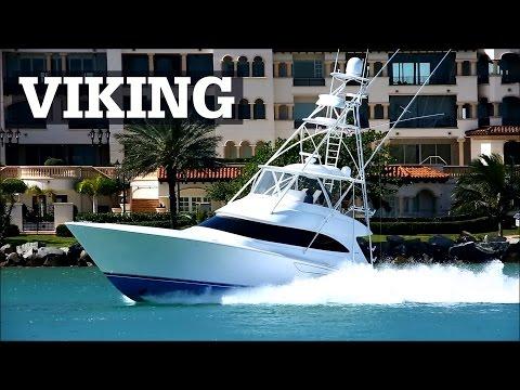 Viking Sportfish Running at Speed in Miami