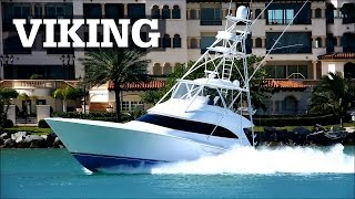 Viking Sportfish Running at Speed in Miami