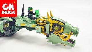 LEGO NINJAGO MOVIE GREEN NINJA MECH  DRAGON LEPIN 06051   Unofficial LEGO lego videos