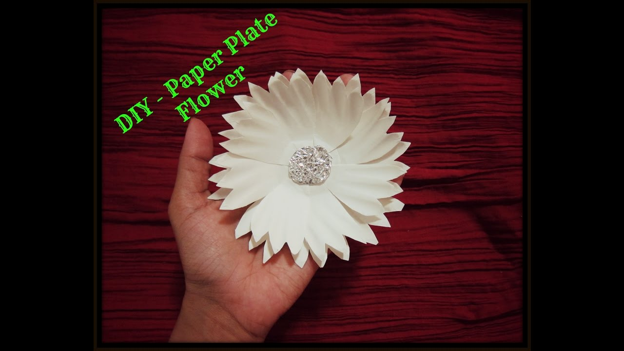 Diy How To Make Paper Plate Flower Youtube