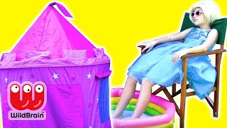 PRINCESS CAMPING HOLIDAY - Castle Tent Pranks! - Princesses In Real Life | WildBrain Kiddyzuzaa