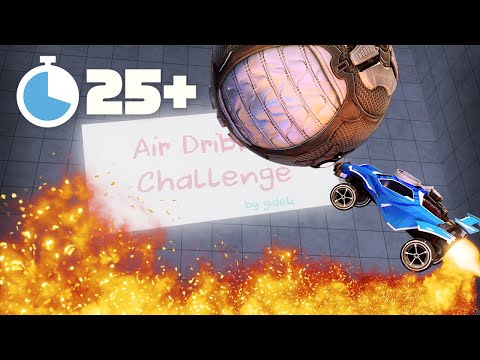 AIR DRIBBLING EVERY DAY FOR 1 MONTH | ROCKET LEAGUE