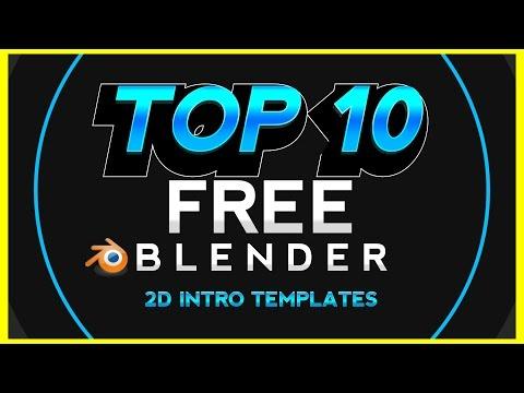 TOP 10 NEW Blender 2D Intro Templates /Series #1/ • 1080p