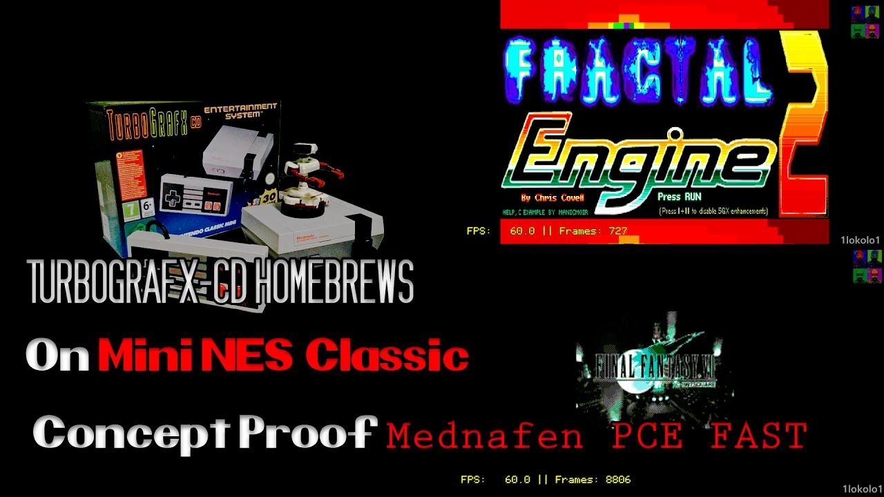 PCE CD on Mini NES Classic Homebrews   Hakchi2 + RetroArch   core Mednafen  PCE FAST