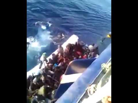 Tragic rescue of migrant boat in the Med...