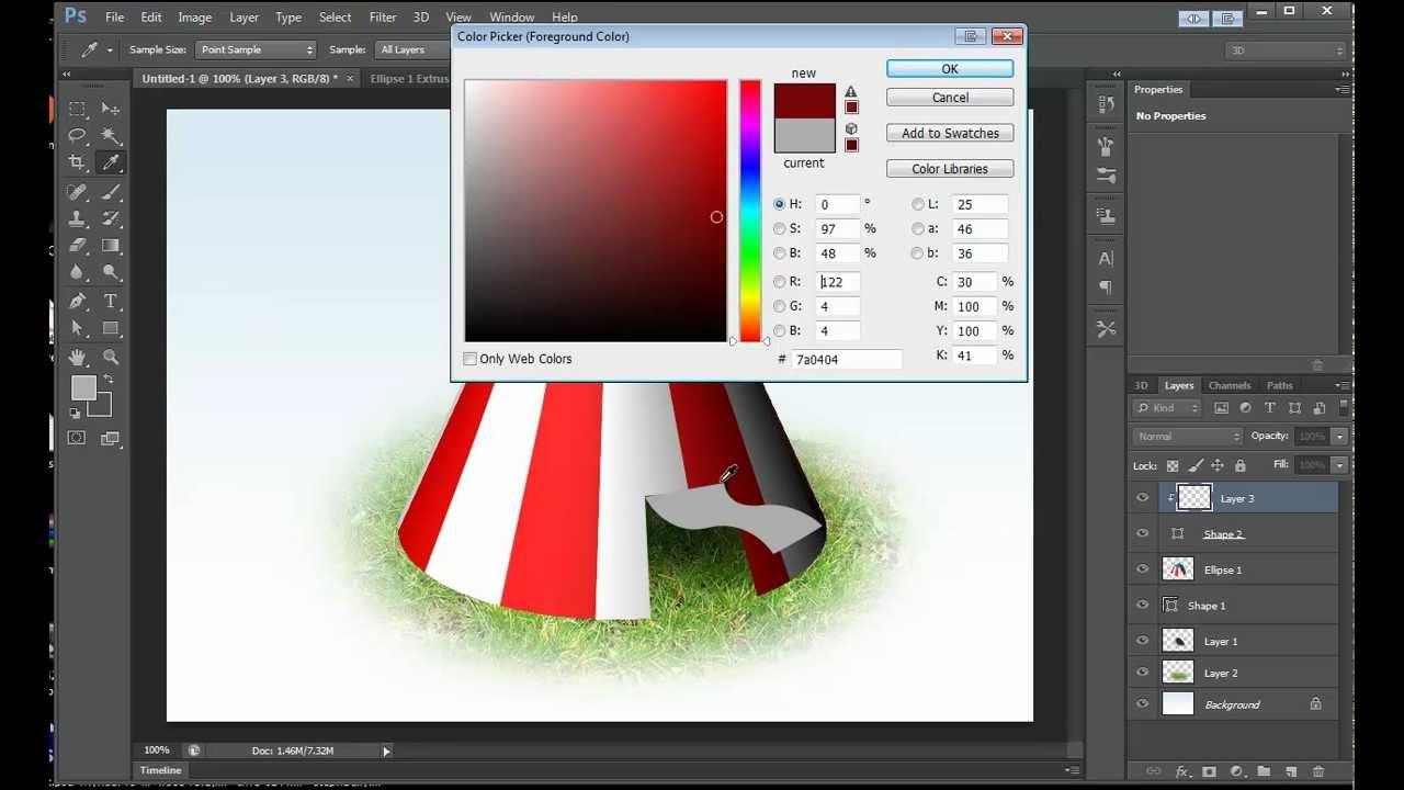 Photoshop cs6 3d tutorial magic tent illustration youtube photoshop cs6 3d tutorial magic tent illustration baditri Gallery