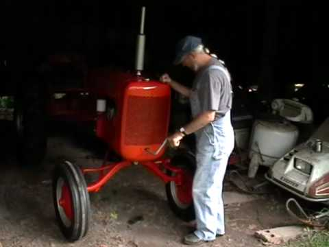 How to crank start Allis Chalmers B cold