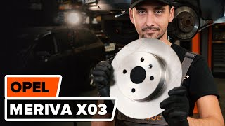 How to replace Brake rotors OPEL MERIVA Tutorial