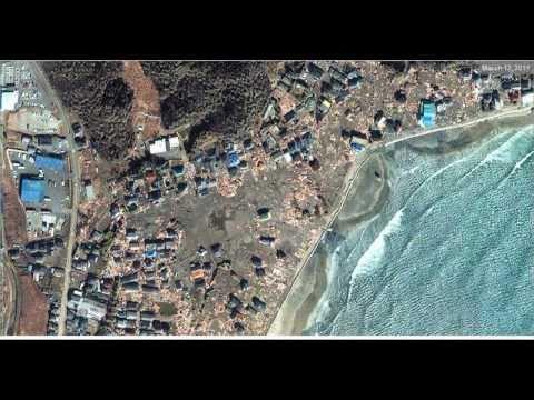 Japan Tsunami Before & After