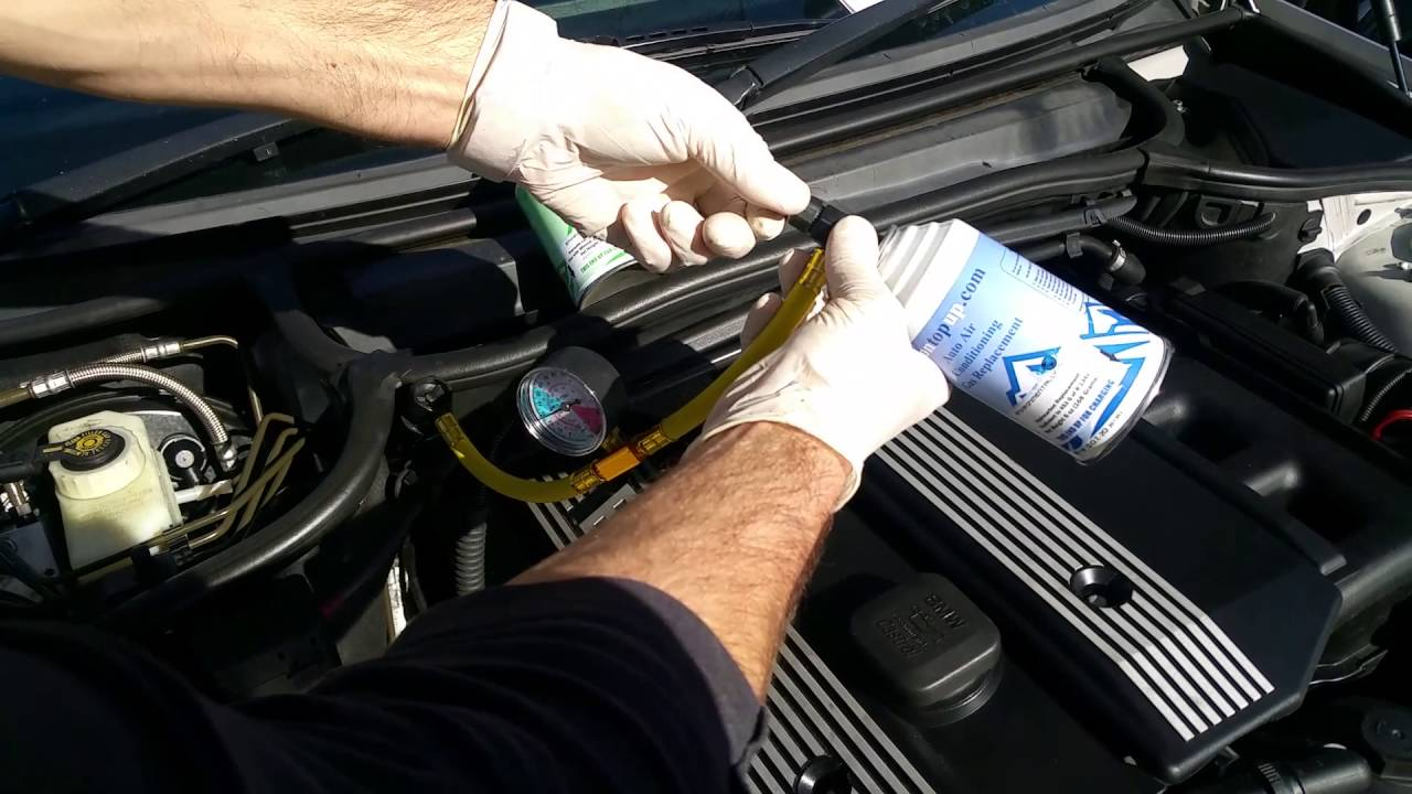 How To Regas Refill Recharge Top Up The Air Con On Your Bmw 3 Series From Aircon
