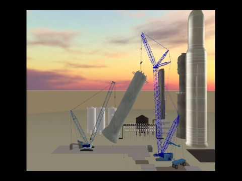 Modern Crane 3D Lift Planning - Reactor Tandem Lift