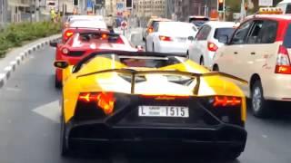 Lamborghini Aventador Catches Fire On The Streets Of Dubai!