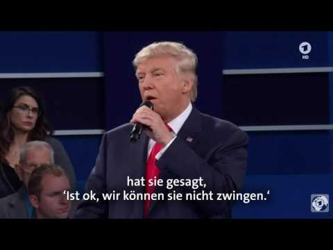 Trump gegen Clinton | Die Highlights des zweiten TV-Duells