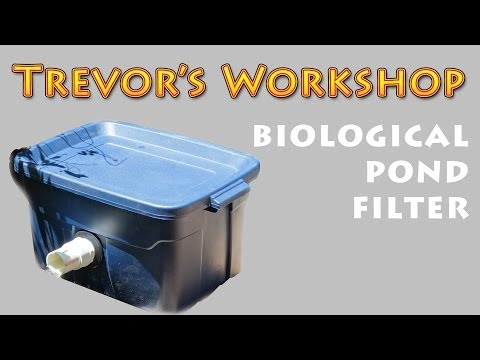 Home made koi pond filter with uv light part 2 doovi for Pond intake filter
