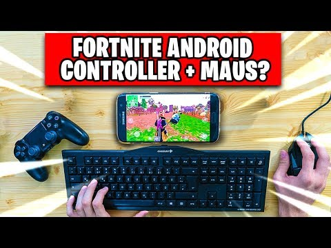 Fortnite ANDROID 📱 With CONTROLLER and MICE? | Fortnite Mobile auf Handy Deutsch German