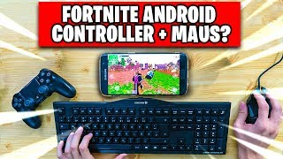 Fortnite ANDROID 📱 Mit CONTROLLER oder MAUS steuern? | Fortnite Mobile auf Handy Deutsch German