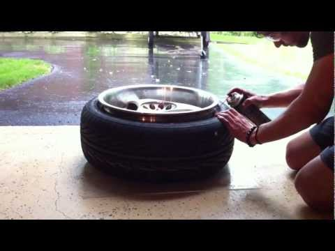 Mount Tires With Fire (brake Parts Cleaner)