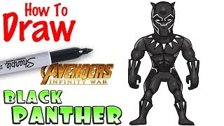 How to Draw Black Panther |  Avengers Infinity War