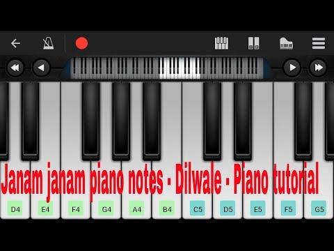 Belajar piano android not lagu india Janam janam - Dilwale