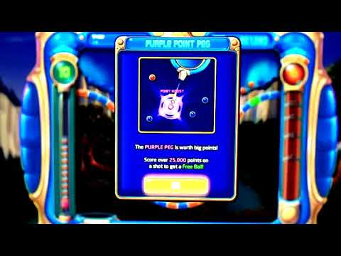 Playing Peggle the game  