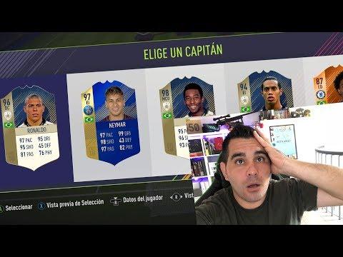 SOLO BRASILEÑOSS EN FUT DRAFT  Y EL MEJOR DE BRASIL EN FIFA 18!!