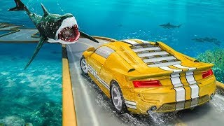 Underwater Ramp Car Stunts 2019 Game | Yellow Sport Car Driving Games To Play | Android GamePlay