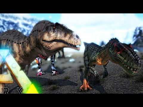 ARK Survival Evolved - ACROCANTHOSAURUS, MEGARAPTOR MOD & STEGOCERATOPS + MUTANT DINOS? ( Gameplay )