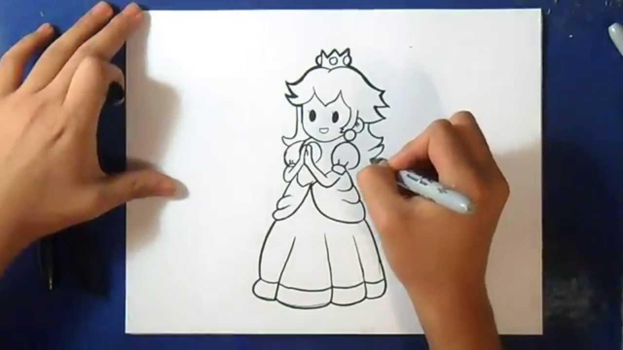 Fácil Como Dibujar A La Princesas Peach Mario Bros How To Draw Princess Peach