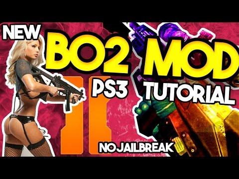 Black Ops 2 MOD Tutorial PS3 and Xbox [MOD Menu ONLINE] How To BO2 MOD [ No Jailbreak]