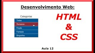Criando Menu Vertical -  HTML e CSS - Desenvolvimento Web