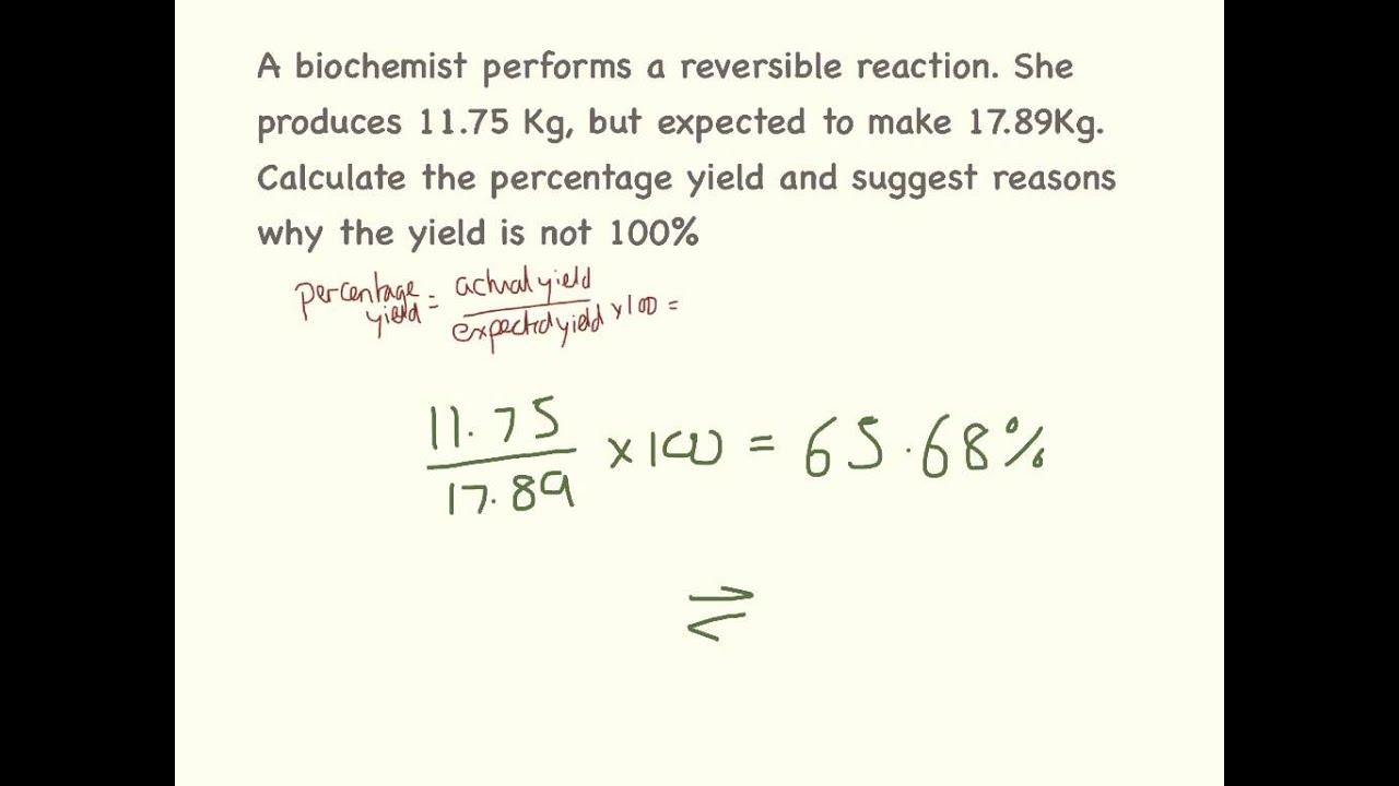 Percentage Yield. - YouTube