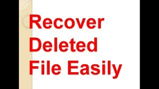 how to Recover deleted photos and videos | Recover deleted files in window 10