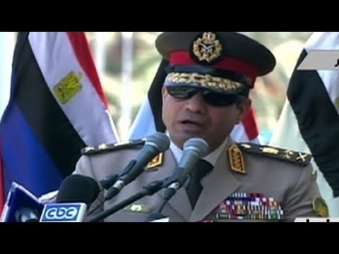 Egypt army chief urges street demos to fight 'terror'